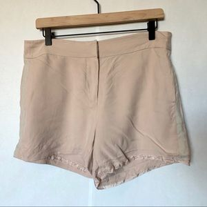 Paige pink buttoned shorts